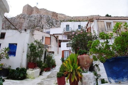 Anafiotika, right under the Acropolis
