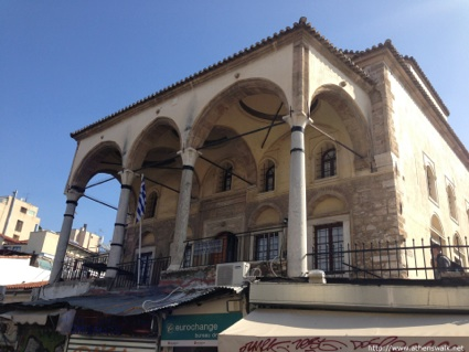 Tsiderakis Mosque, next to the shopping street Pandrossou and the ruins of Hadrian's Library
