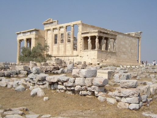 The Erechtheion with a view of the Porch of the Caryatids